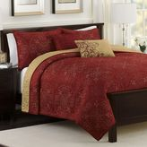 Bed Bath & Beyond Medallion Reversible Quilt Set in Claret