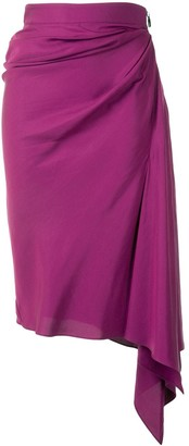 Maticevski Asymmetric Draped Skirt
