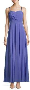 Vera Wang Strapless Chiffon Dress