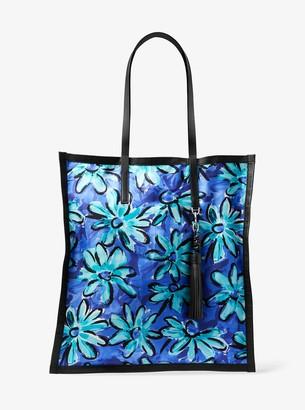 Michael Kors Grimaldi Daisy Silk Twill Scarf Tote Bag