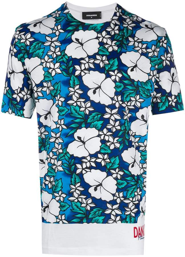 DSQUARED2 Hawaiian print T-shirt