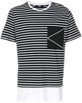 Karl Lagerfeld striped K Logo T-shirt