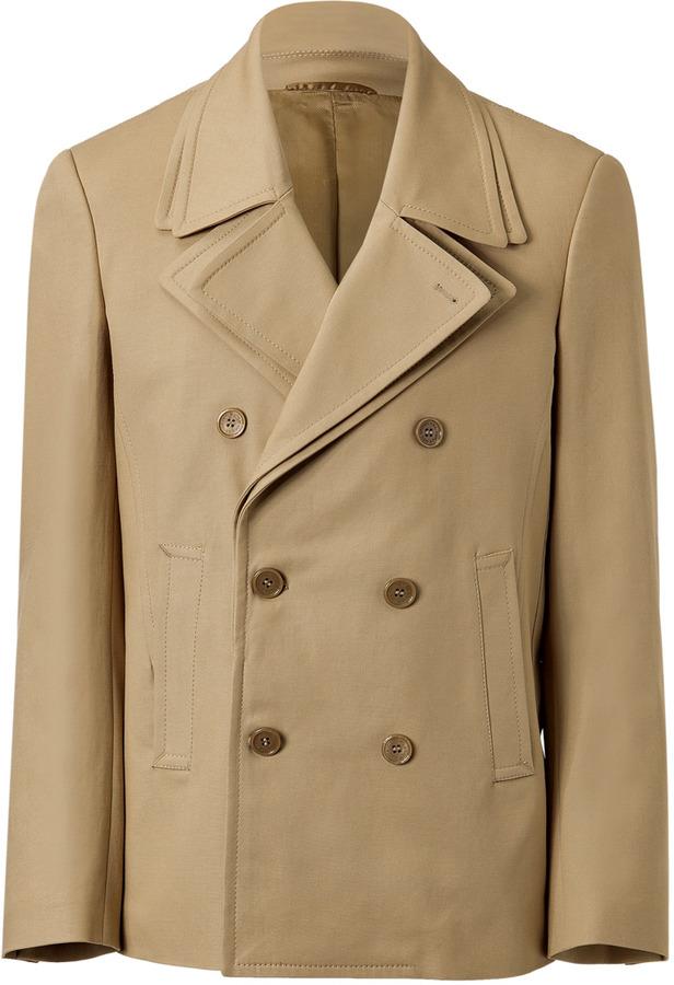 Neil Barrett Beige Double-Breasted Jacket