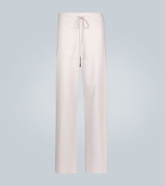 Finx washed twill easy wide pants