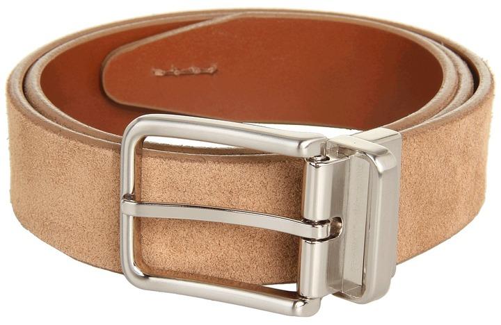 Johnston & Murphy Reversible Suede Leather (Tan/Tan) - Apparel