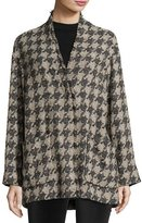 Isabel Marant Woven Houndstooth Coat, Gray