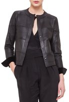 Akris Reversible Sheared Mink Fur & Leather Jacket