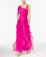 INC International Concepts Petite One-Shoulder Ruffled Maxi Dress, Created for Macy's