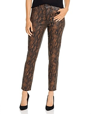 Paige Hoxton Ankle Jeans in Coated Brown Snake - 100% Exclusive