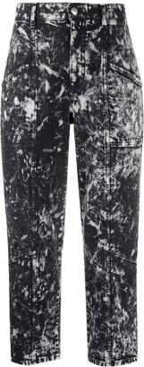 Stella McCartney Galaxy high-waisted cropped jeans