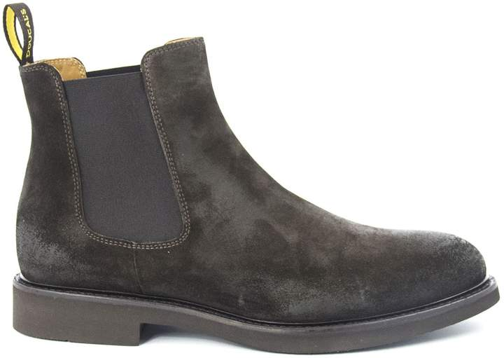 ee495b7368b Doucals Brown Suede Ankle Boots