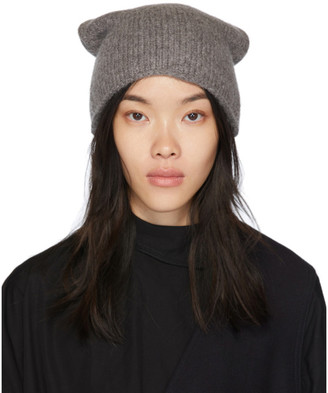 LAUREN MANOOGIAN Grey Crown Beanie