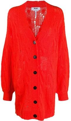 MSGM Open-Knit Cardigan