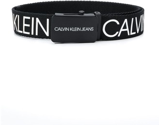 Calvin Klein Kids two tone logo print belt