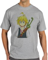 ANGRYDEER Meliodas Seven Deadly Sins & Smilling With Nice Face Quality Mens T-Shirt