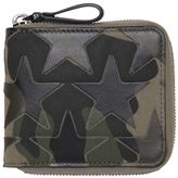 Valentino Camustars Leather & Canvas Zip Wallet