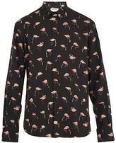Saint Laurent Flamingo-print single-cuff shirt