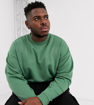 Asos Design DESIGN Plus oversized sweatshirt in green
