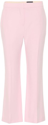 Alexander McQueen Cropped crepe pants