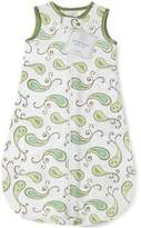Swaddle Designs Cotton Flannel Sleeping Sack with 2-Way Zipper, Triplets Paisley; 6-12MO