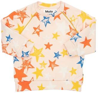 Molo All Over Print Organic Cotton Sweatshirt