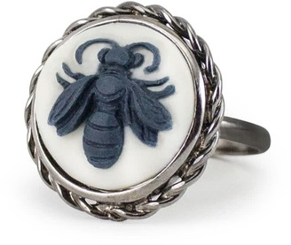 Vintouch Italy Dark Bee Cameo Ring