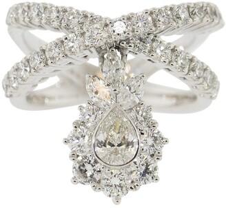 Yeprem Jewellery Pear Diamond Dangle Ring