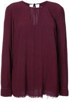 Raquel Allegra raw edge long sleeve blouse - women - Rayon - 0
