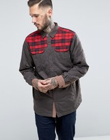Columbia Kline Falls Overshirt Check Shoulder