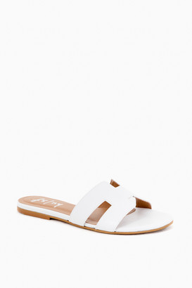 French Sole White Leather Alibi Sandals