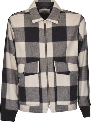Woolrich Bottom Front Pocket Detail Checked Jacket