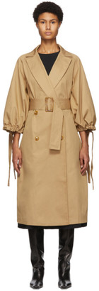 Edit Beige Pleated Trench Coat