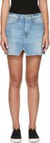 Frame Blue Denim Le Mini Split Front Skirt