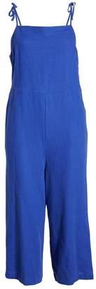 BP Square Neck Linen Blend Crop Wide Leg Jumpsuit