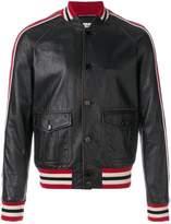 Saint Laurent stripe biker jacket