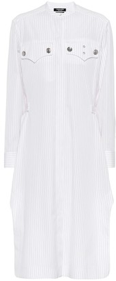 Calvin Klein Striped cotton shirt dress