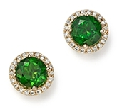 Bloomingdale's Chrome Diopside and Diamond Halo Round Stud Earrings in 14K Yellow Gold - 100% Exclusive