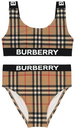 BURBERRY KIDS Archive Check bikini