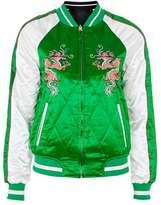 Petite leo reversible bomber jacket