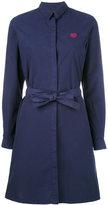 Kenzo belted shirt dress - women - Cotton - 38
