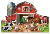Melissa & Doug Busy Barn Shaped Jumbo Jigsaw Floor Puzzle (32 pcs, 2 x 3 feet)