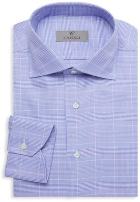 Canali Glen Plaid Dress Shirt