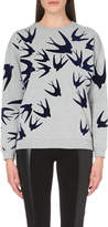 McQ Swallow-motif cotton-jersey sweatshirt
