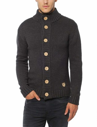 Lower East Mens Cardigan with large natural wooden buttons