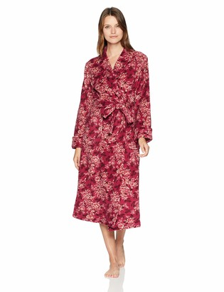 Arabella Amazon Brand Women's Printed Floral Plush Robe