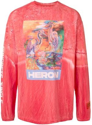 Heron Preston heron print long-sleeve T-shirt