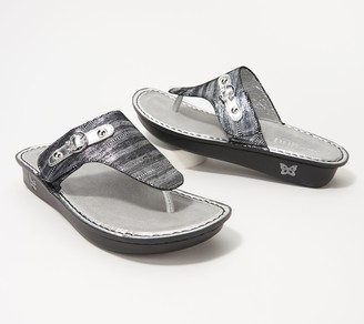 Alegria Leather Adjustable Thong Sandals- Vanessa