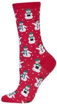 Hot Sox Snowmen Knit Socks