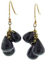 Ten Thousand Things Black Onyx Cluster Earrings in Yellow Gold