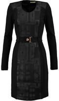 Versace Paneled Stretch-Cady Mini Dress